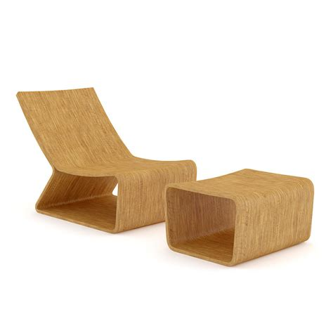 Wooden Lounge Chair by Wooden Lounge Chair 3d Model Max Obj Fbx C4d