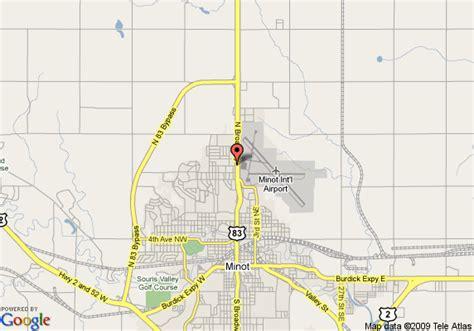 minot dakota map map of select inn minot minot