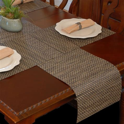 table runner with placemats dining room chilewich placemats with wicker