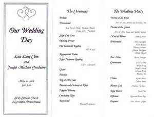 sle of wedding reception program wedding reception program