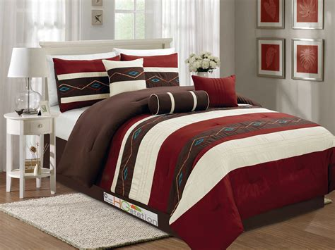 7 p chic southwest style diamond embroidery comforter set