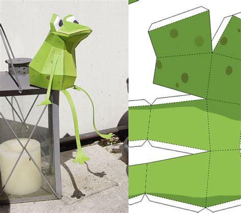 Frog Papercraft - papercraft frog pdf 3d puzzle by paperwolfsshop on etsy