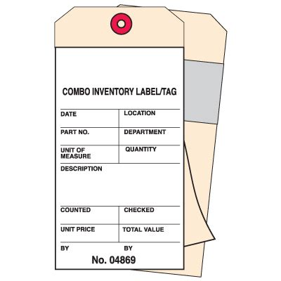 2 Part Carbonless Combo Inventory Tags Seton Inventory Count Tags Template