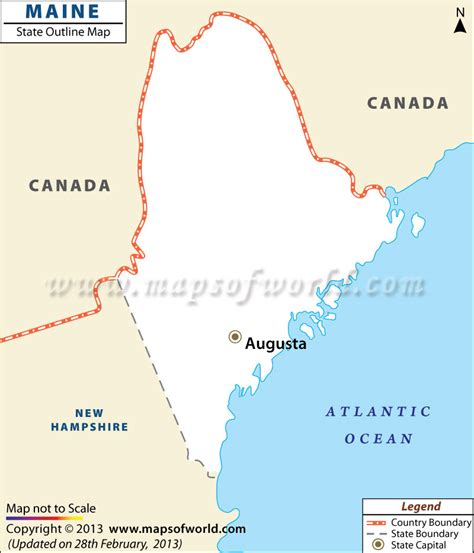 where is maine usa on map blank map of maine maine outline map