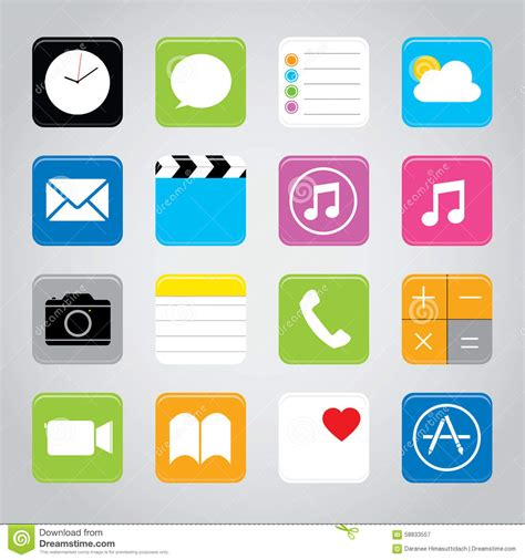 mobile application design vector touchscreen smart phone mobile application button icon