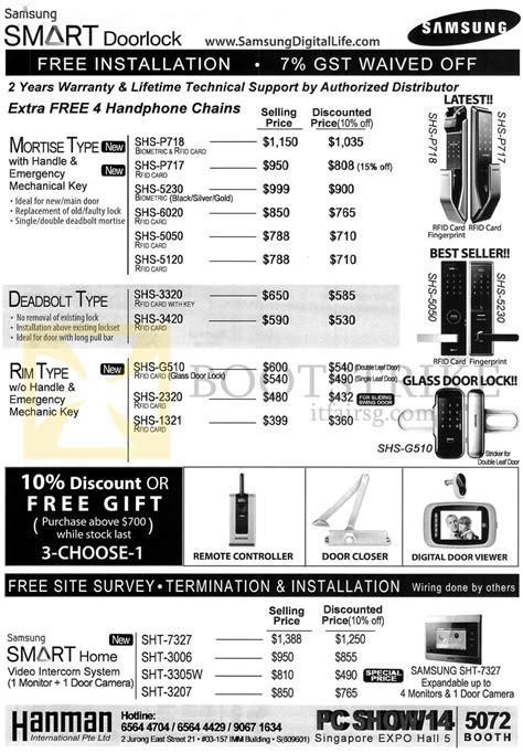 Safety Door Price List by Flywire Door Locks 8654 Security Screen Door Lock