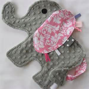 Handmade Taggies - elephant taggie crafts ideas baby tags