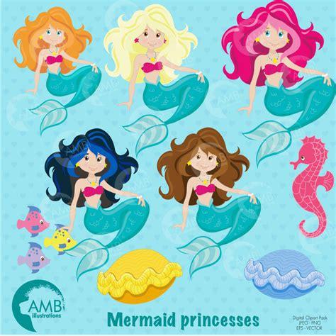 mermaid clipart mermaid clipart mermaid princess ambillustrations
