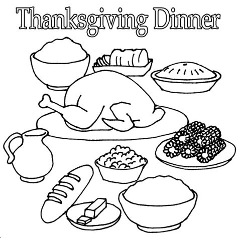 coloring page thanksgiving dinner thanksgiving dinner coloring book