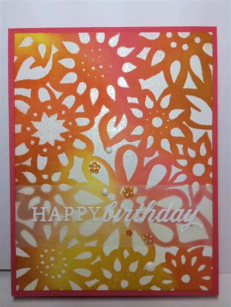 card stencils 14 best images about stenciled cards on tim