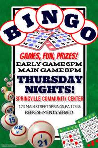 bingo flyer template bingo template postermywall