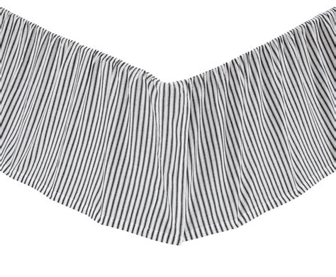 Black And White Striped Bed Skirt by Black Ticking Stripe Josephine Bedskirt Ruffle