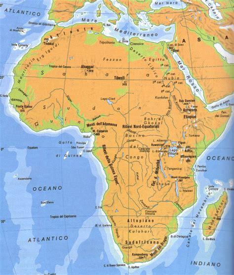 lafrica mappa cartina muta africa con fiumi