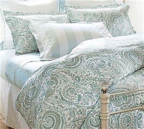 blue paisley bedding painterly paisley 400 thread count duvet cover sham