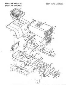 murray tractor wiring diagram parts model 3667