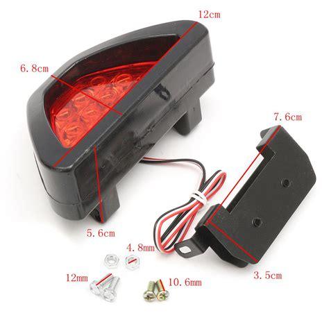 rear brake light motorcycle rear tail brake stop light taillight red strobe