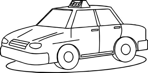 taxi car coloring page taxi cab coloring pages printable free taxi best free