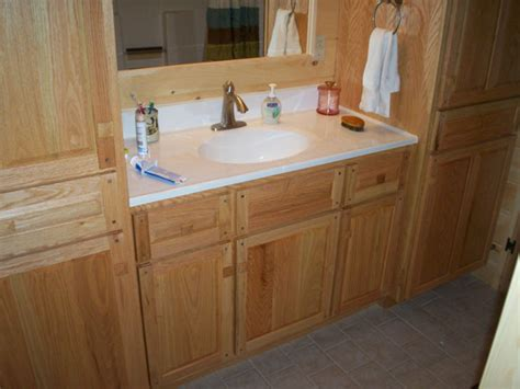 bathroom oak cabinets model information about home