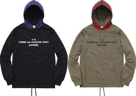 Hoodie Supreme X Cdg supreme x comme des gar 231 ons fall 2015