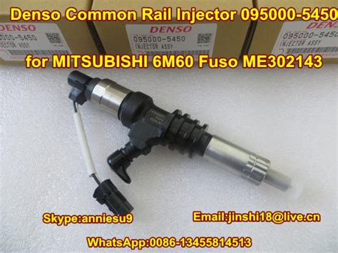 Fuel Mitsubishi Galant V6 Ori Denso denso original fuel injector 095000 5450 me302143 for mitsubishi 6m60 fuso me302143