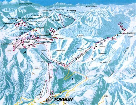 plan des pistes et sentiers de randonn 233 es de torgon les