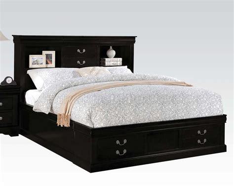 5pc bedroom set louis philippe iii 5pc bedroom set in black by acme w options