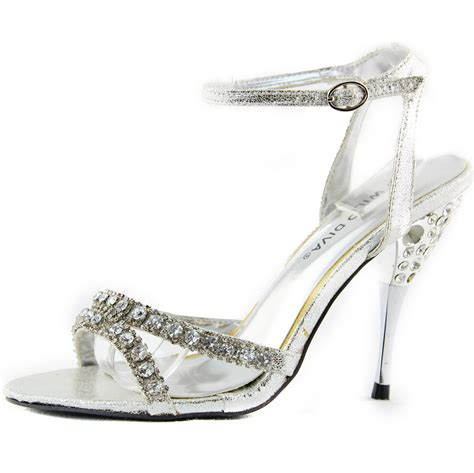 high heel sandals with rhinestones blue diamante rhinestone high heel evening sandals