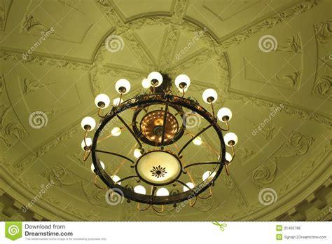 illuminazione antica illuminazione di soffitto antica fotografia stock