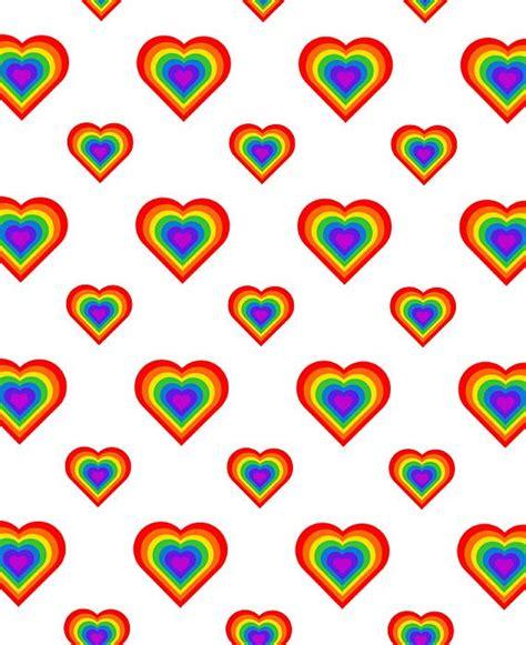Heart Pattern Rainbow | rainbow hearts pattern by rick al