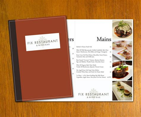 15 free restaurant menu templates covers designscrazed