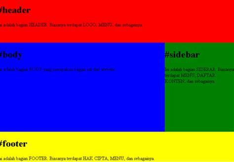 membuat layout web dengan css dreamweaver membuat layout website dengan css a m indonesia