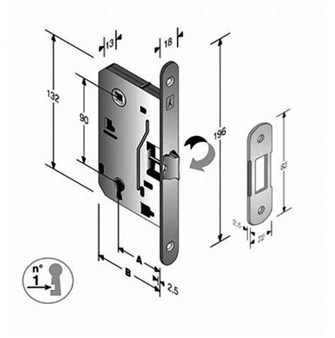 serrature per porte interne legno serratura bonaiti cromo satinato con scrocco centrale per
