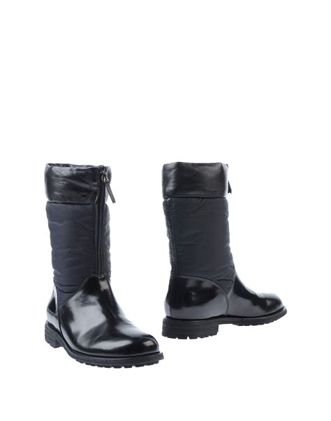 mens armani boots armani boots in black for lyst