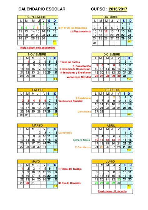 calendario curso 2016 2017 baleares calendario escolar 2016 2017 baleares calendario escolar