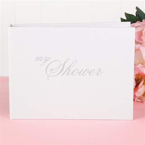 quot shower quot bridal shower guest book