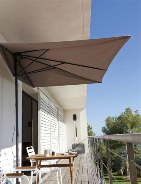 sonnenschirm terrasse parasol de balcon et terrasse alternatives nouvelles flexibles