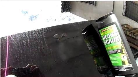 Pembersih Jamur Kaca Mobil Glass Scrub Unelco menghilangkan jamur kaca mobil dengan glass scrub