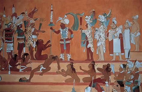 imagenes de murales mayas pintura mural 1 en los mayas