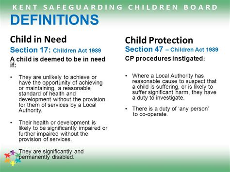 section 17 children s act 1989 child protection training module 1 basic awareness ppt