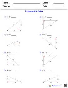geometry worksheets trigonometry worksheets