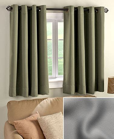 blackout curtains for short windows short panel blackout curtain the lakeside collection