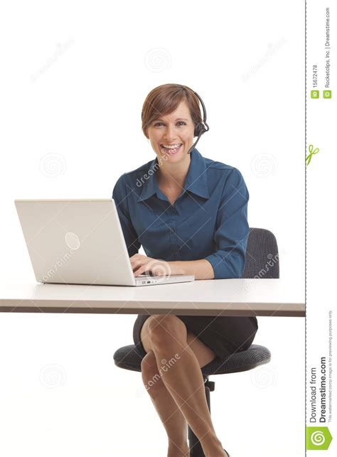 Sitting At Desk by Business Sitting At Desk Royalty Free Stock