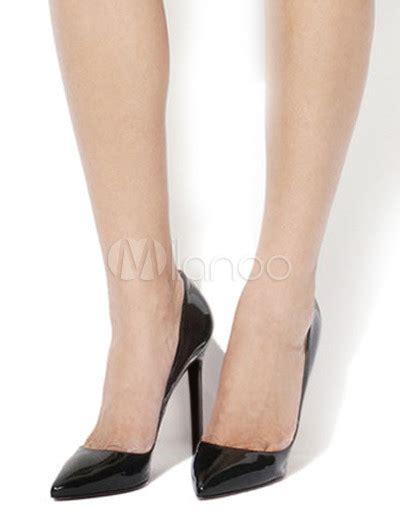 Heels Black Classico tacchi di classico mandorla toe montone donna nera
