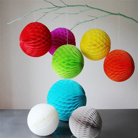 Tissue Paper Balls - paper luxe 20cm honeycomb tissue balls by pearl and earl