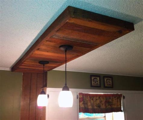 pallet wood ceiling accent home decor wood