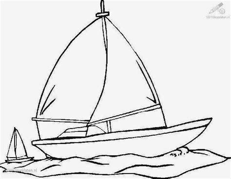 mewarnai gambar sederhana 4 perahu bahasapedia bahasapedia