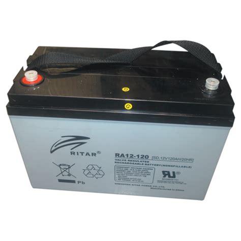 Baterai Ritar ritar 12v 120ah agm cycle battery caravan rv cing