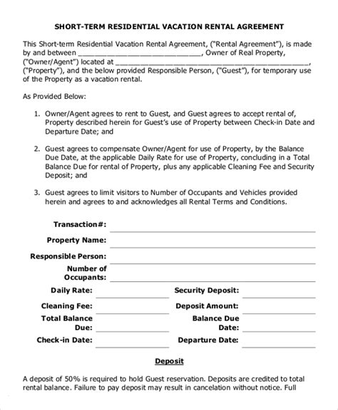 residential tenancy agreement template 14 residential rental agreement templates free sle