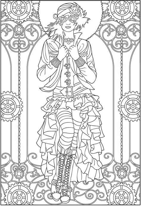 simply creative coloring book for adults books coloring pages quot creative steunk fashions