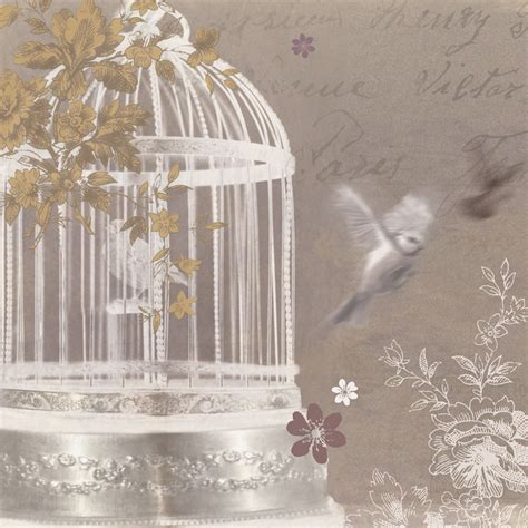 Birdcage Wall Art Stickers silver birdcage canvas by arthouse wallpaper direct